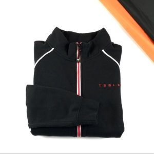 Tesla Full Zip Sweatshirt Jacket Size Medium